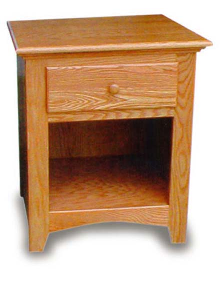 Amish Bedroom Open Shaker Night Stand | Amish Bedroom ...