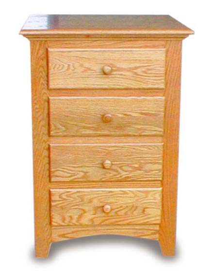 Amish Bedroom Nightstand 4 Drawer Amish Bedroom