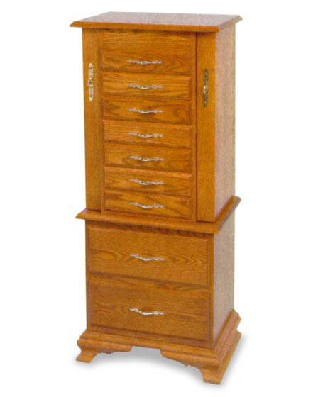 Amish Clock Base Jewelry Armoire Amish Bedroom Furniture