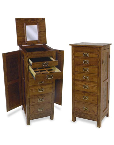 48 Amish Flush Mission Jewelry Armoire Amish Bedroom Furniture