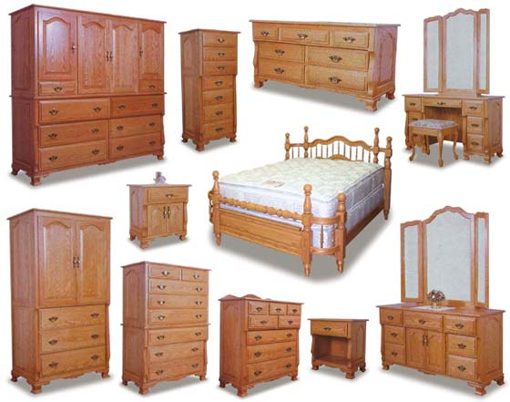 Wraparound Amish Bedroom Furniture Collection Zoom