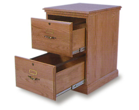 Amish Office 2 Drawer Filing Cabinet Zoom