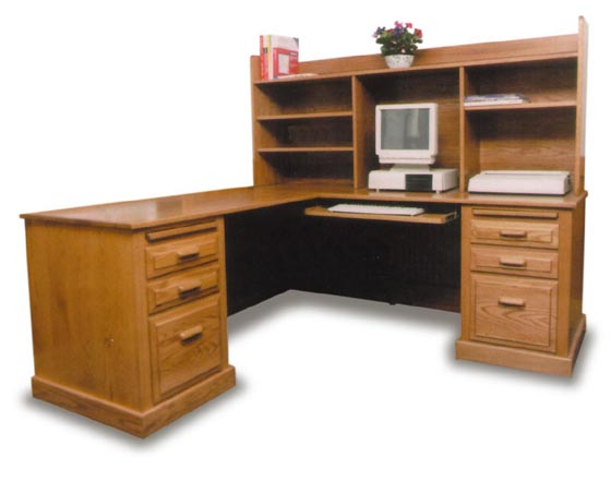 Amish Office Corner Computer Desk Amish Office Furniture