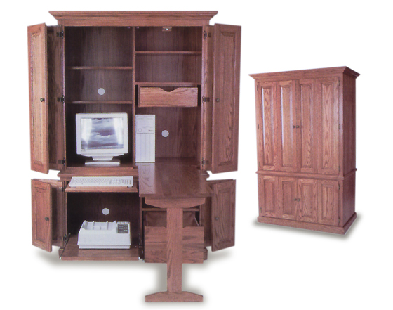 amish built deluxe computer armoire zoom