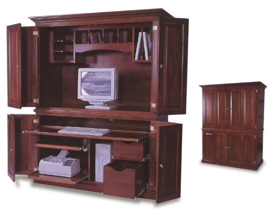 amish office computer armoire zoom
