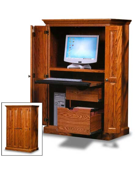 Office Computer Armoire Zoom