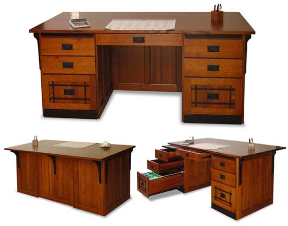 Amish Mission Office Executive Desk Amish Office