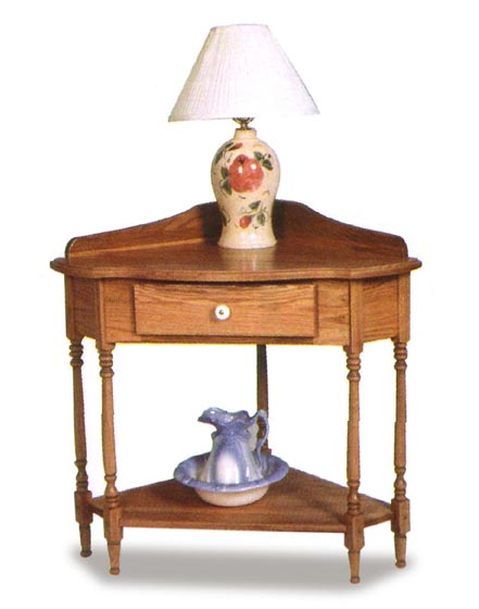 Amish Corner Console Table Zoom