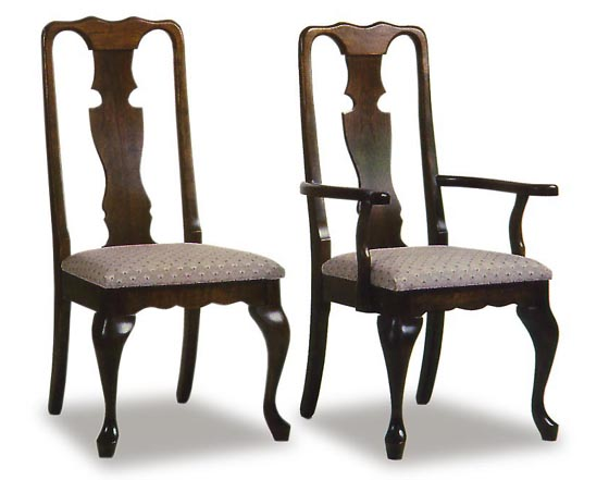 queen anne upholstered amish dining room chairs amish