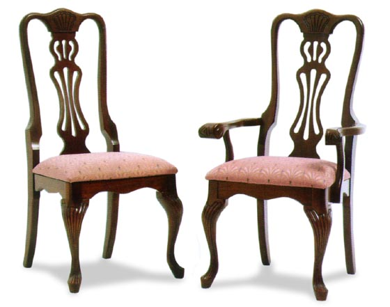 Reeded Queen Anne Amish Dining Room Chairs Zoom