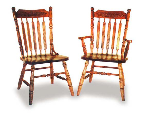 Amish Acorn Dining Room Chairs | Amish Dining Room Furniture ...