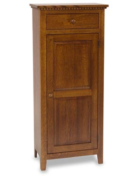 Tall Mission Jelly Cabinet With Drawer Amish Dining Room