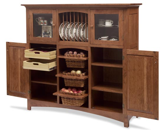 Beau Baltic French Shaker Cabinet With Silverware And Veggie Storage Zoom