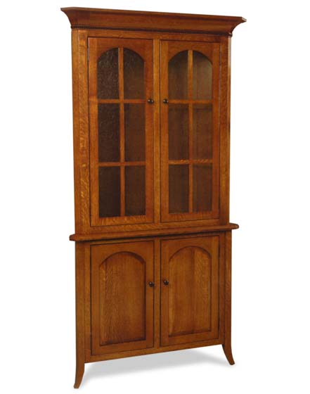 Bunker Hill Long Door Corner Hutch Amish Dining Room