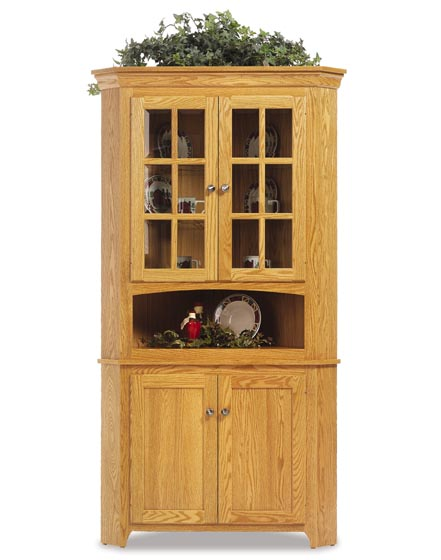 Alternate View Of Lexington Shaker Amish Corner Hutch