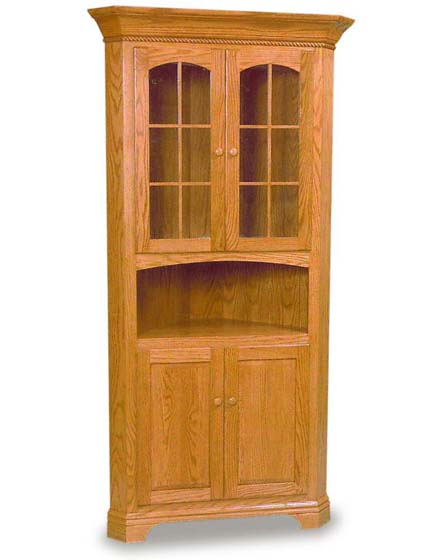 Charmant Amish Dining Room Deluxe Corner Hutch Zoom