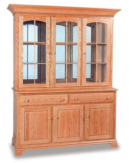 Deluxe Amish Dining Room Hutch | Amish Dining Room Furniture ...