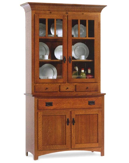 Alternate View Of Classic Mission 2 Door Dining Room Hutch ...