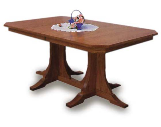 Mission Clipped Corner Amish Dining Table | Amish Dining ...