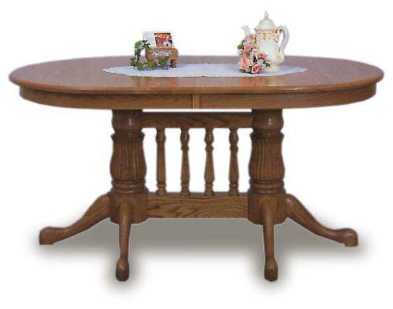 Oval top 36x60 amish dining room table amish dining room for Dining room table 60 x 36