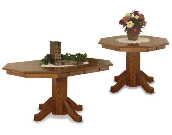 Octagon Dining Room Tables | Amish Dining Room Furniture ...