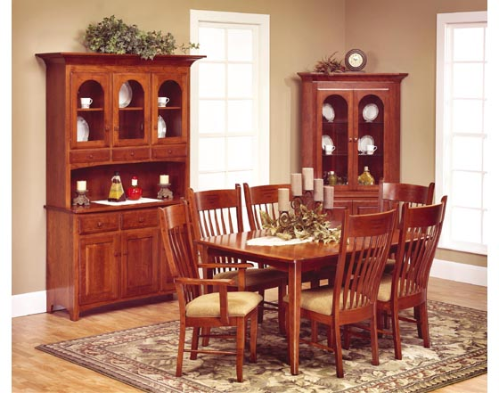 Alternate View of Classic Shaker Dining Room Furniture. Classic Shaker Dining Room Furniture   Amish Dining Room Furniture