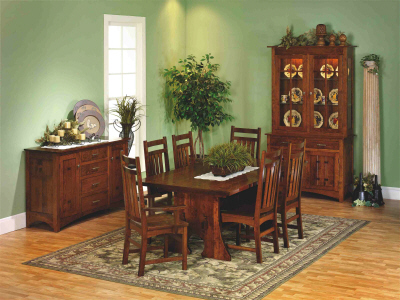 Alternate View Of Monterey Mission Dining Room Furniture ...
