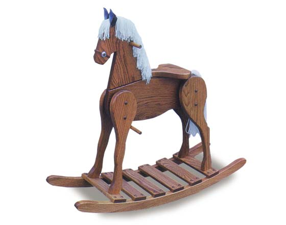 Large Rocking Horse Amish Furniture For Nursery And