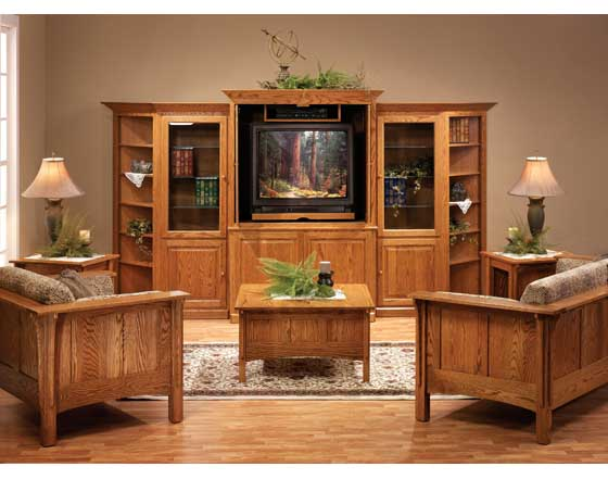 Traditional Shaker Amish Family Room Furniture Amish