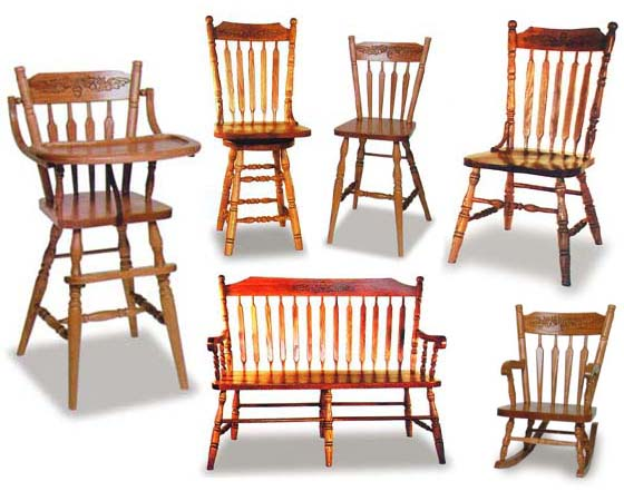... Alternate View Of Amish Acorn Dining Room Chairs