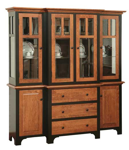 Oak Dining Room Hutch: Fresno Amish Dining Room Hutches