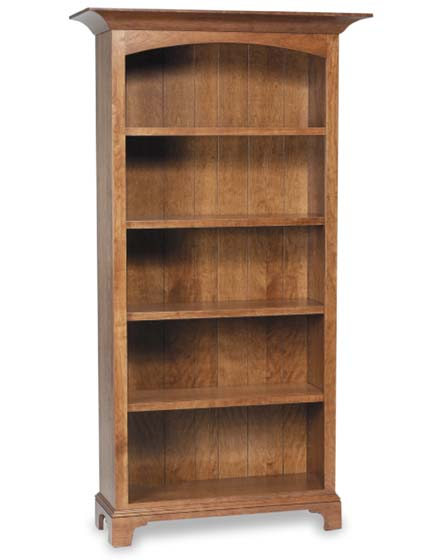... Alternate View of New Bedford Shaker Amish Bookcase with Doors ...  sc 1 st  Sugar Plum Oak & New Bedford Shaker Amish Bookcase with Doors | Amish Office ...