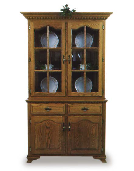Queen Anne Amish Dining Room Hutches   Amish Dining Room Furniture ...