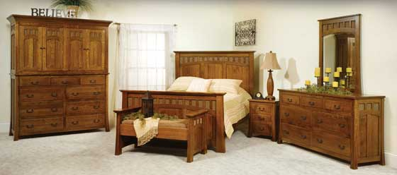 Bridgeport Mission Amish Bedroom Furniture Amish Bedroom Furniture Sugar Plum Oak Amish