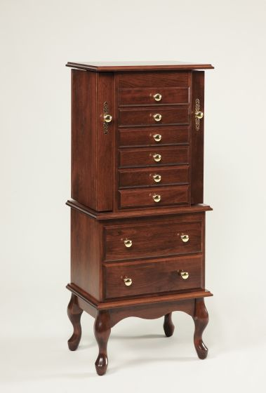 48 quot queen anne jewelry armoire amish bedroom furniture sugar plum