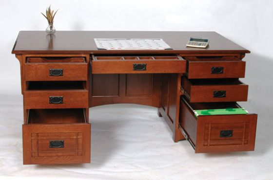Amish Lincoln Executive Desk Amish Office Furniture Sugar Plum