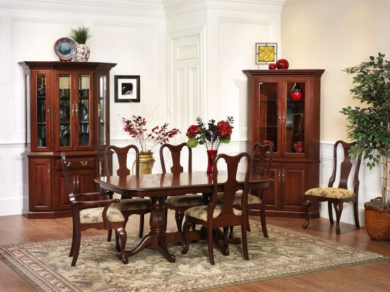 Queen victoria dining room collection amish dining room for Dining room tables victoria