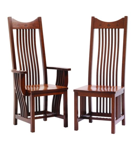 ... Alternate View Of Classic Mission Amish Dining Room Chairs