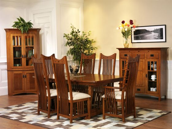 ... Alternate View Of Classic Mission Dining Room Furniture ...