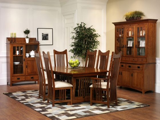 mission dining room sets | Classic Mission Dining Room Furniture | Amish Dining Room ...