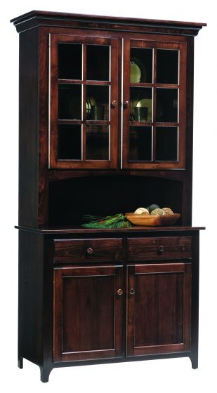 Alternate View Of Lexington Shaker 2 Door Amish Hutch