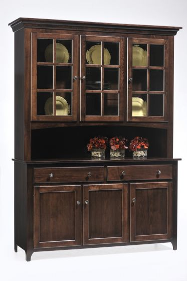 Alternate View Of Lexington Shaker 3 Door Amish Hutch