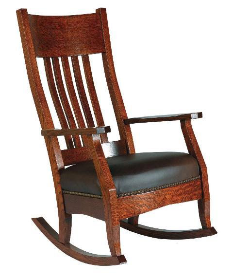 Alternate View Of Arts And Crafts Mission Rocker And Footstool ...