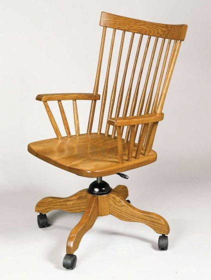 comback desk chair | amish office furniture | sugar plum oak amish