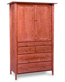 Amish Sheffield Tray Armoire