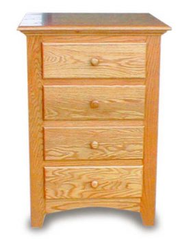 Amish Bedroom Nightstand-4 Drawer