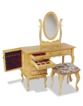 Amish Queen Anne Jewelry Dressing Table