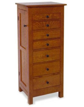 "Amish 48"" Flush Mission Jewelry Armoire"