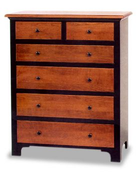Fresno Amish Six Drawer Chest of Drawers