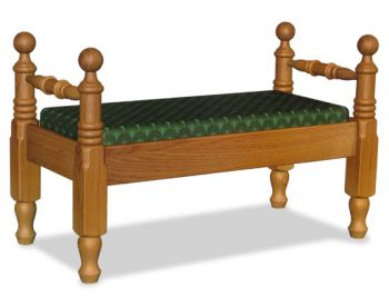 Amish Bedroom Cannonball Seat